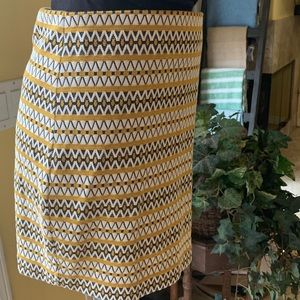 NWT express Yellow strip Mini skirt Med
